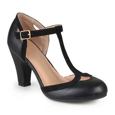 Journee Collection Womens Olina Pumps, 7 1/2 Medium, Black