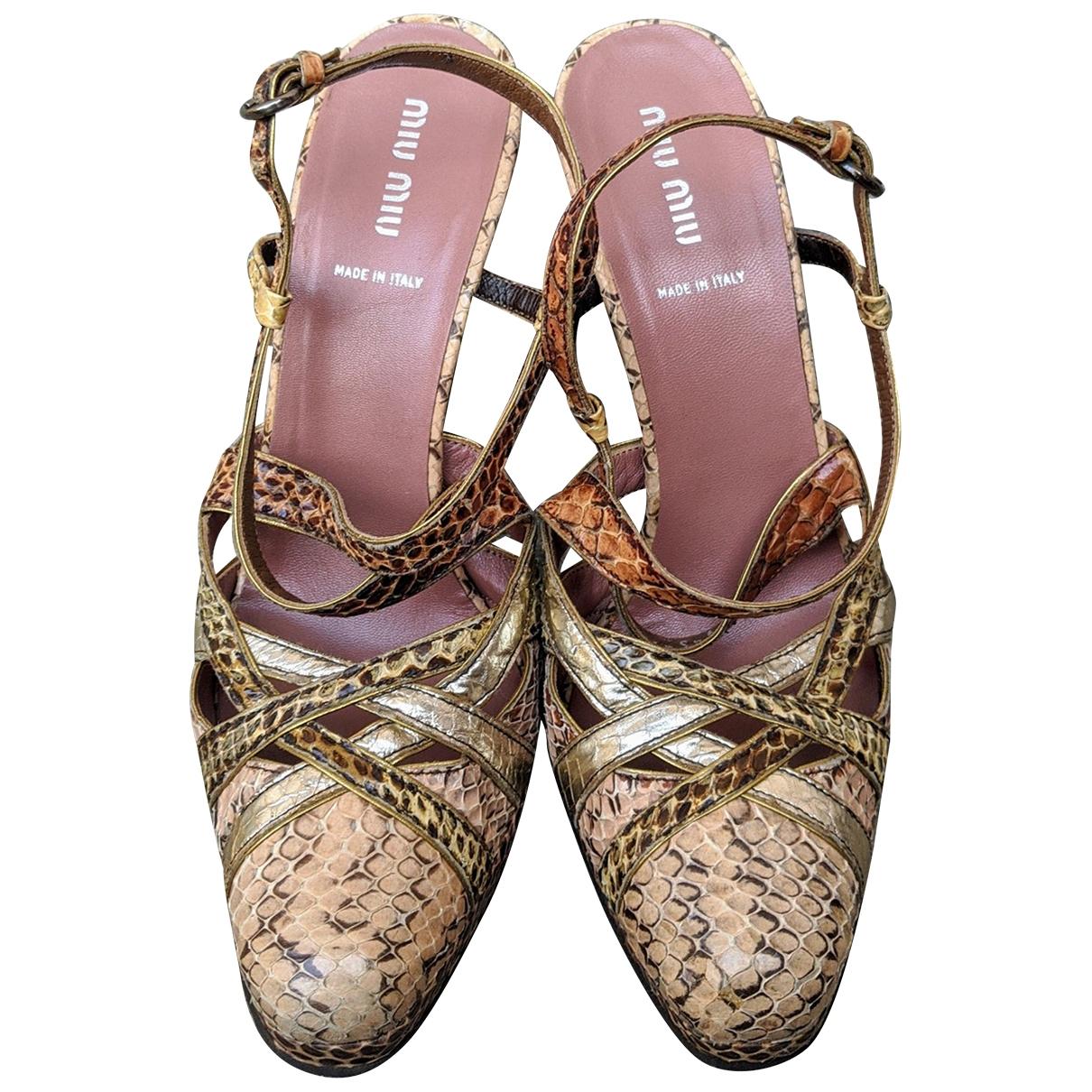 Miu Miu \N Pink Python Heels for Women 40.5 EU