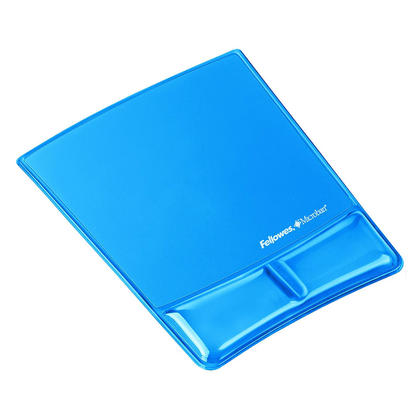 Fellowes@ Mouse Pad - Wrist Support with Microban@ Protection - blue, gel 283341
