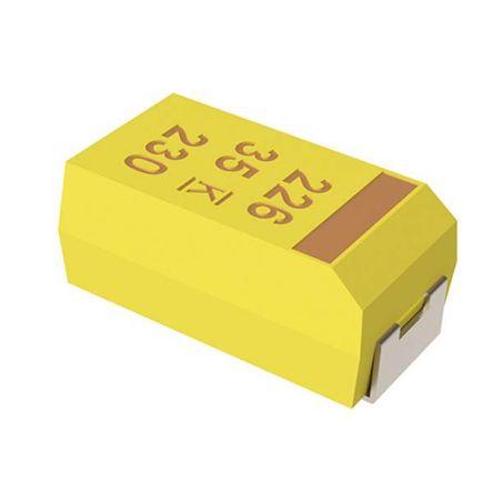 KEMET Tantalum Capacitor 4.7μF 25V dc MnO2 Solid ±10% Tolerance , T491 (2000)