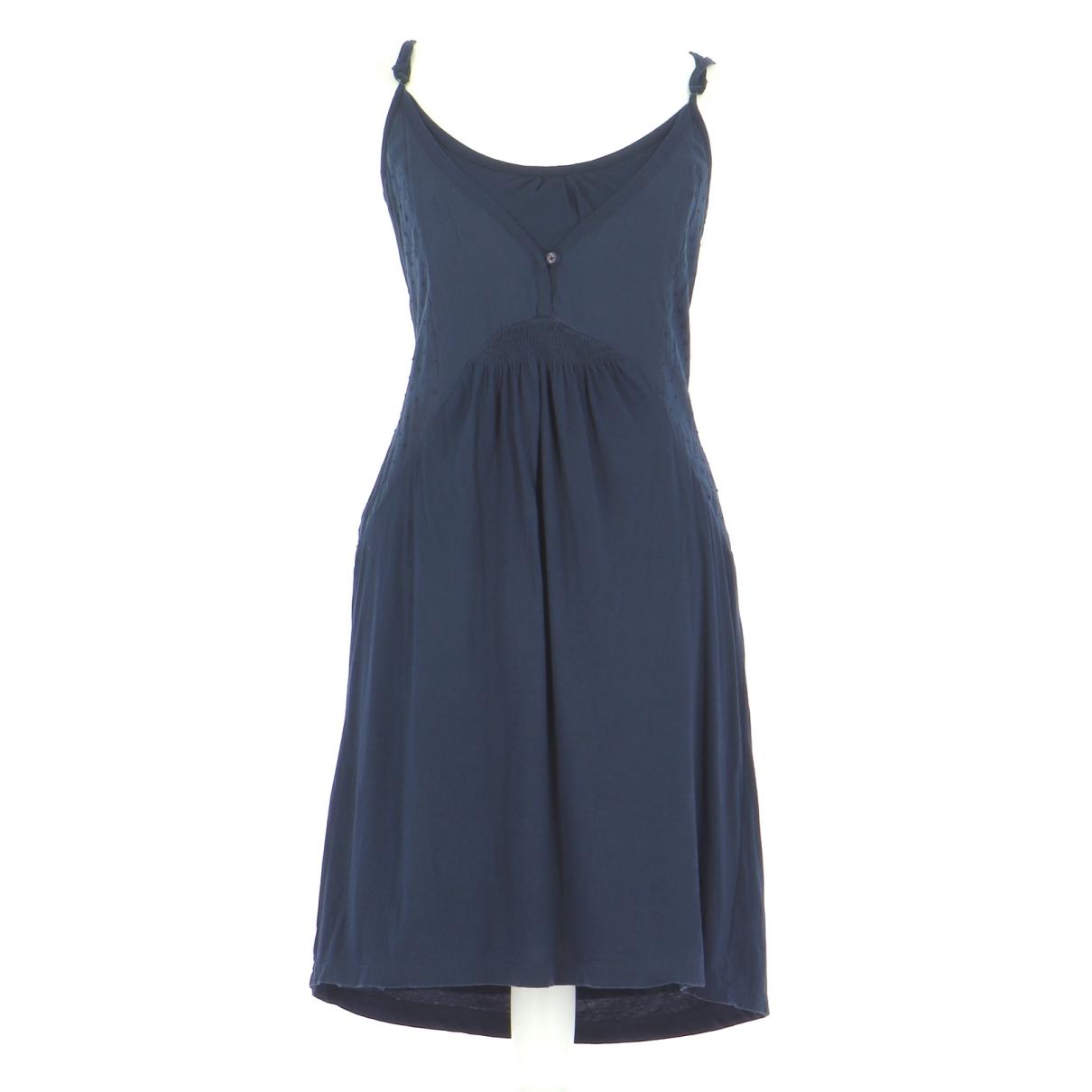 Sud Express N Navy Cotton dress for Women 38 FR
