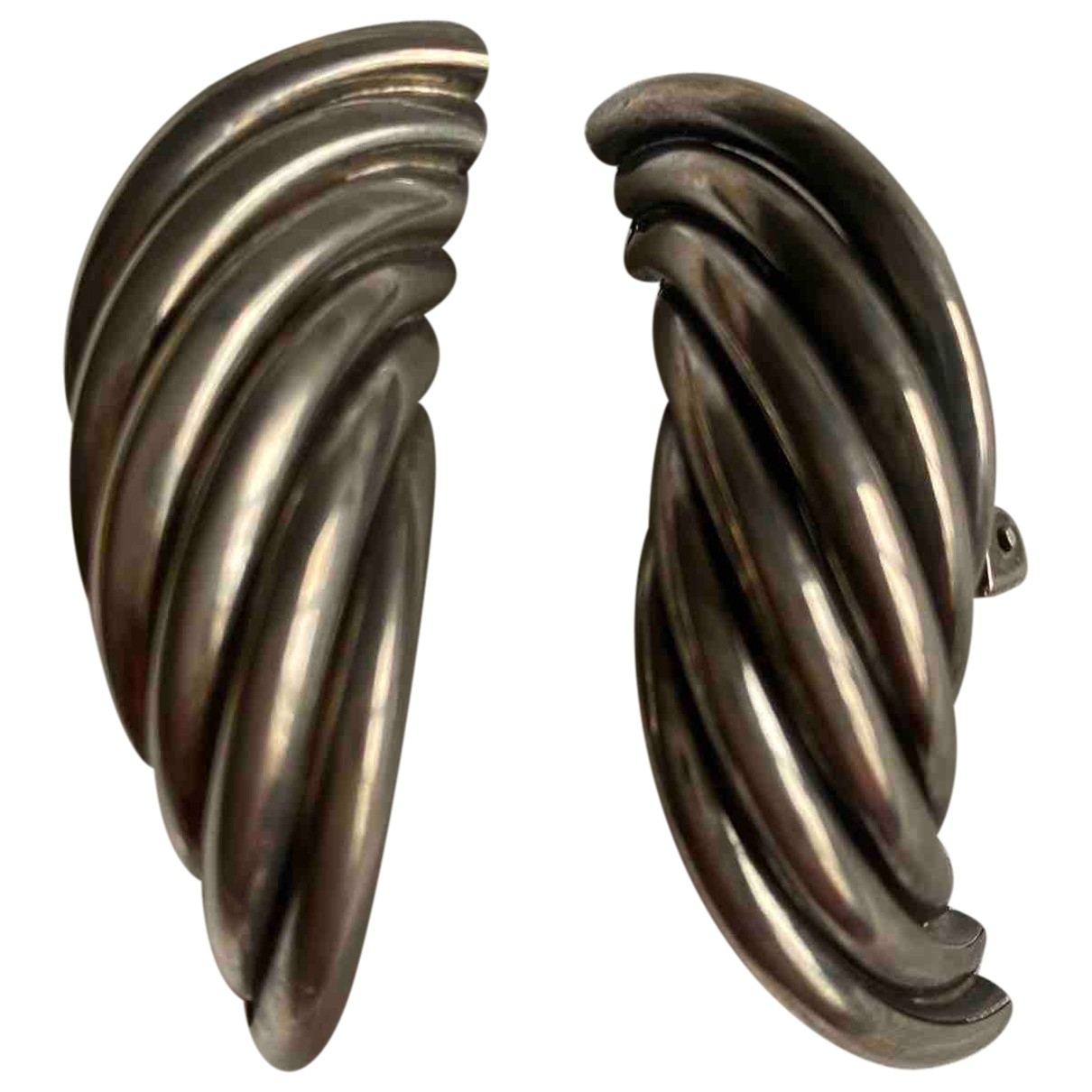 - Boucles doreilles   pour femme en metal - argente