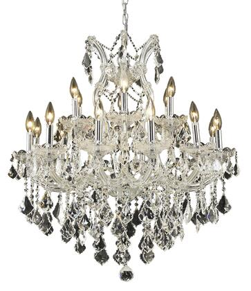 2800D30C/EC 2800 Maria Theresa Collection Hanging Fixture D30in H28in Lt: 18+1 Chrome Finish (Elegant Cut