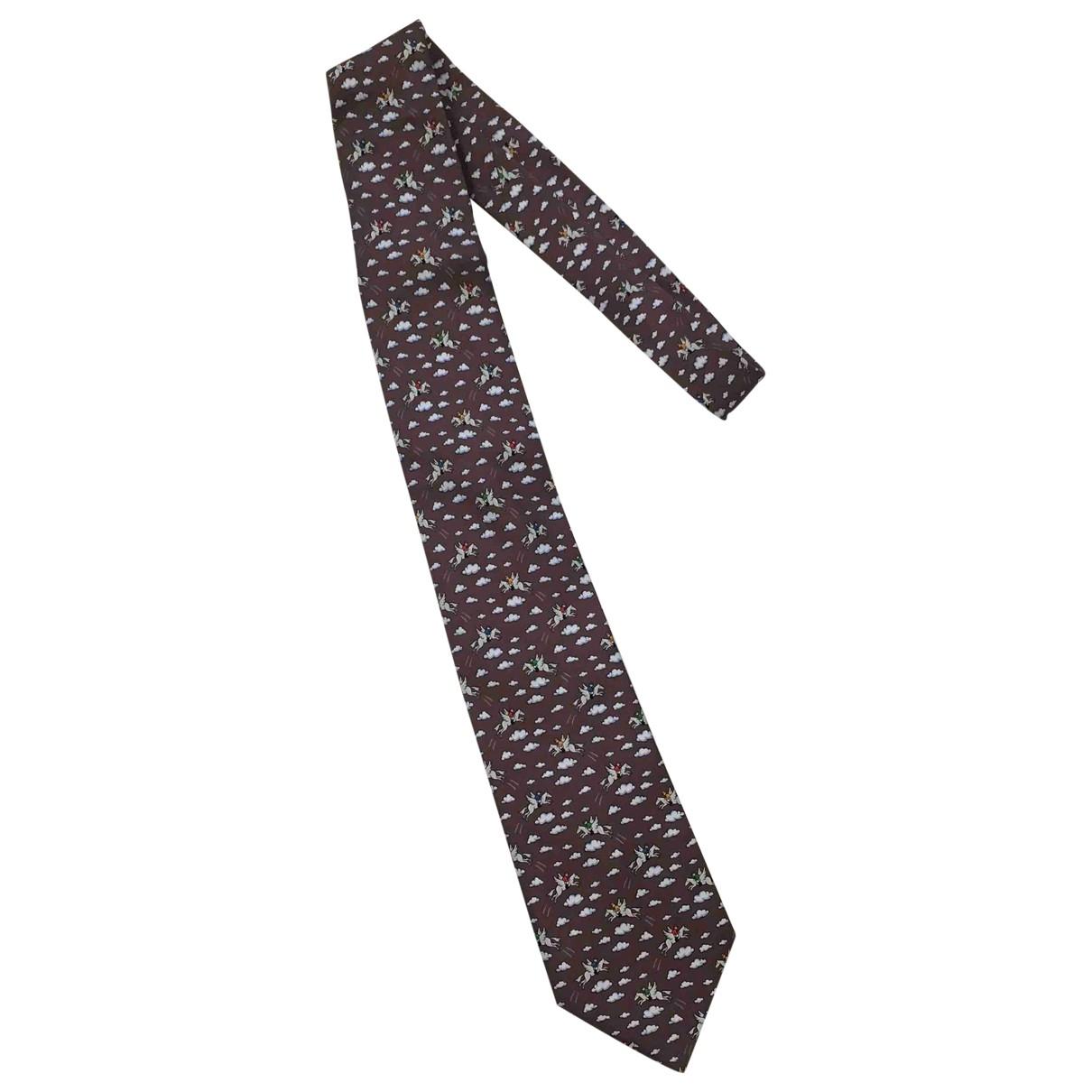 Hermes \N Krawatten in  Braun Seide