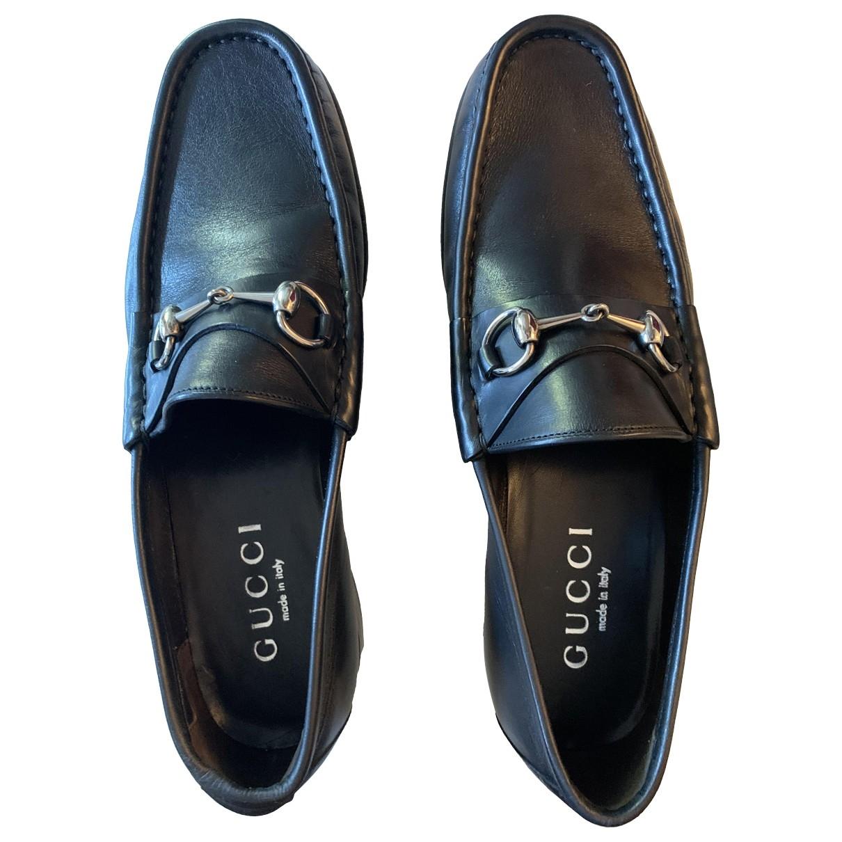 Gucci \N Black Leather Flats for Men 10 UK