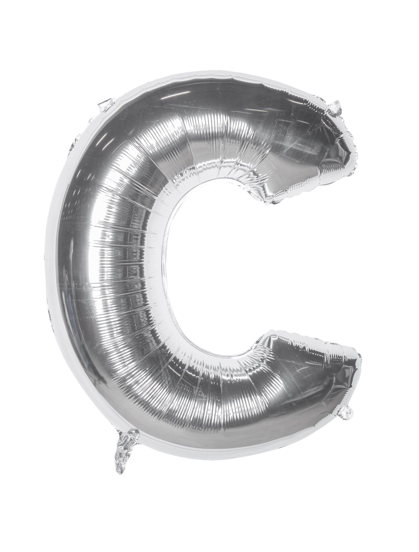 Folienballon Buchstabe C silber