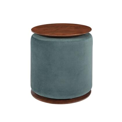 BM220272 Fabric Upholstered Modern Convertible Two Tone Ottoman  Teal Blue and