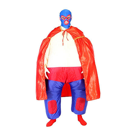 Adult Chub Suit Wrestler Costume One Size Fits Most Unisex Costume, One Size , Red
