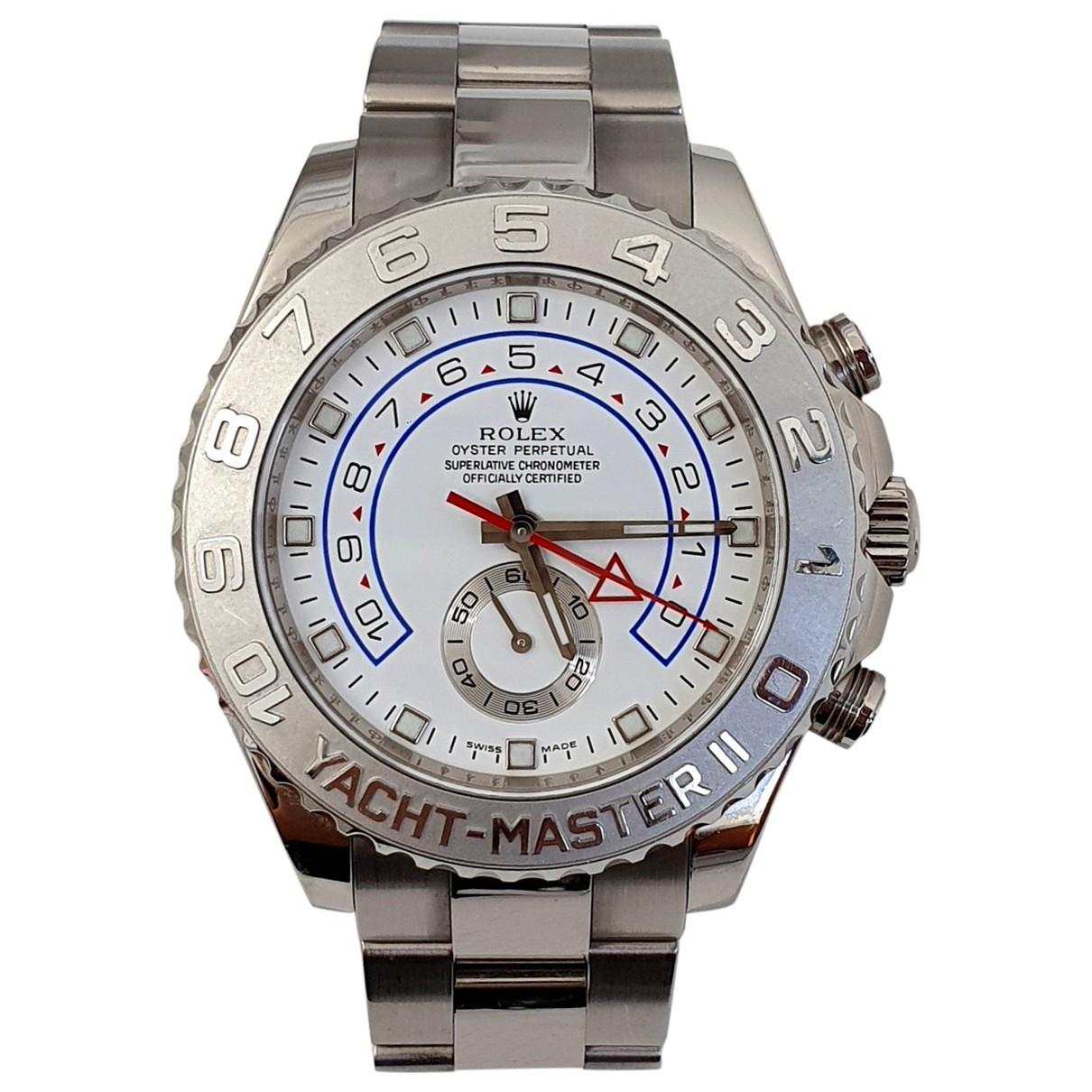 Rolex - Montre Yacht-Master ll pour homme en or blanc - blanc
