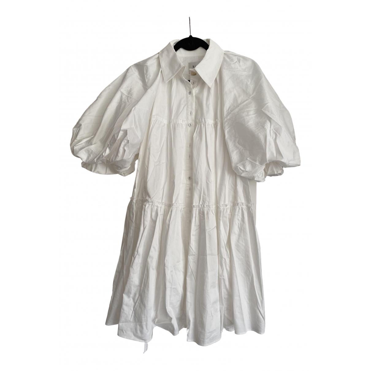 Aje \N Kleid in  Weiss Baumwolle