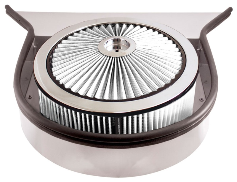 Spectre 98593 ExtraFlow Cowl Air Cleaner w/Tray 5in. - White