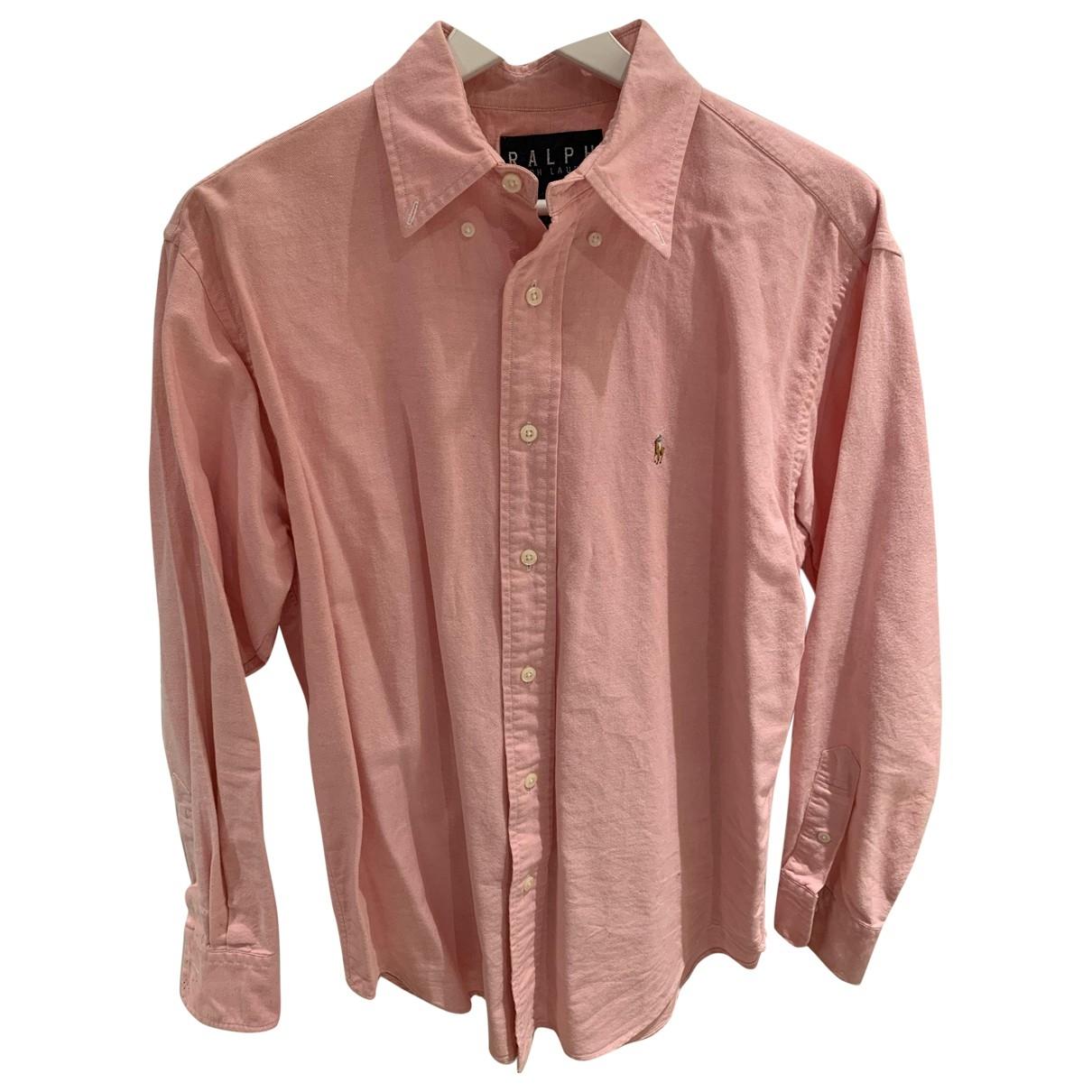 Ralph Lauren Double Rl - Top   pour femme en coton - rose