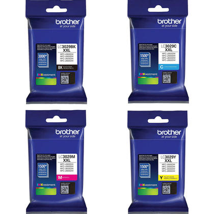 Brother LC3029 XXL Original Ink Cartridge Combo Extra High Yield BK/C/M/Y
