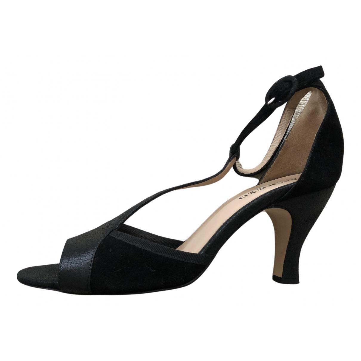 Repetto - Sandales   pour femme en cuir - noir