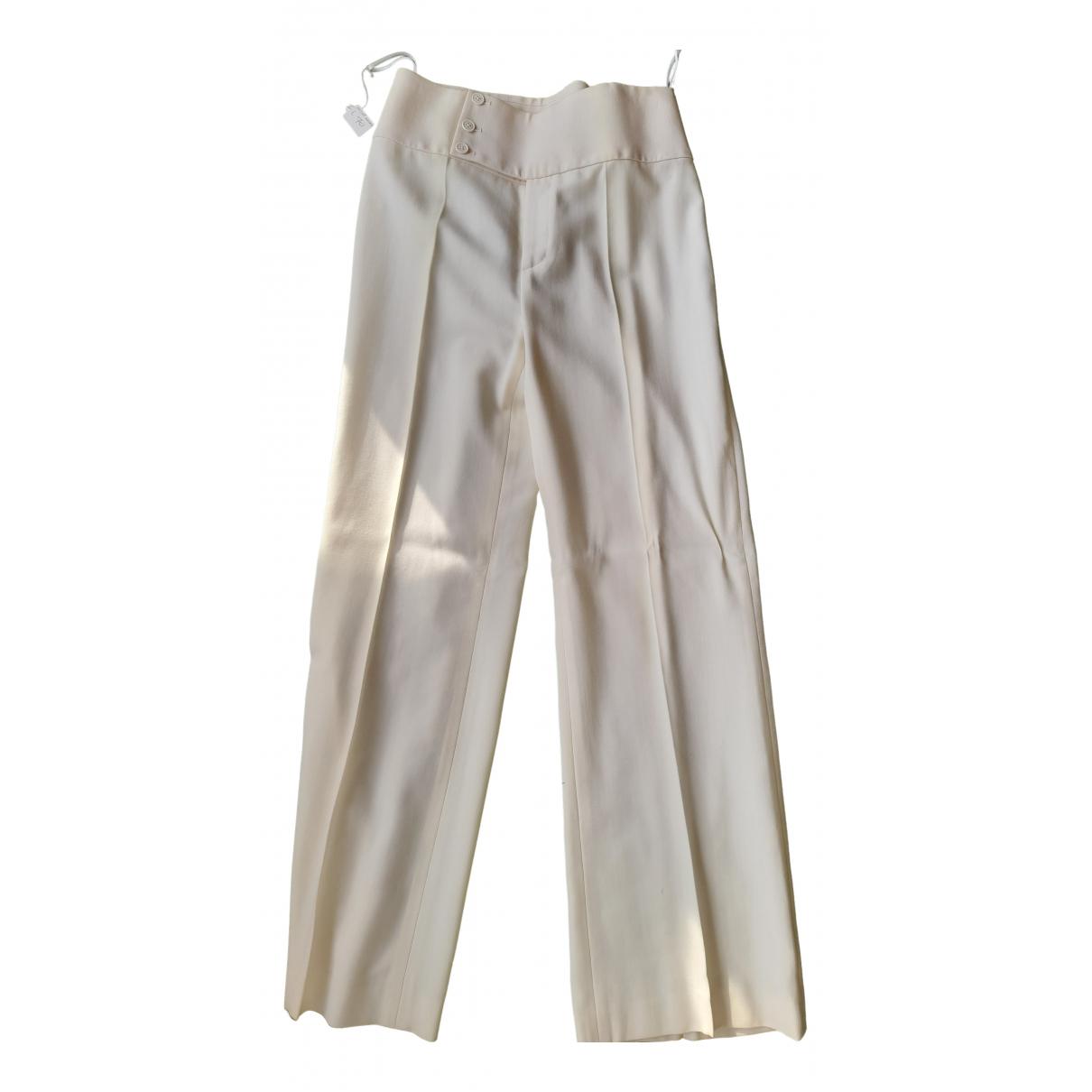 Ralph Lauren N White Wool Trousers for Women 8 US