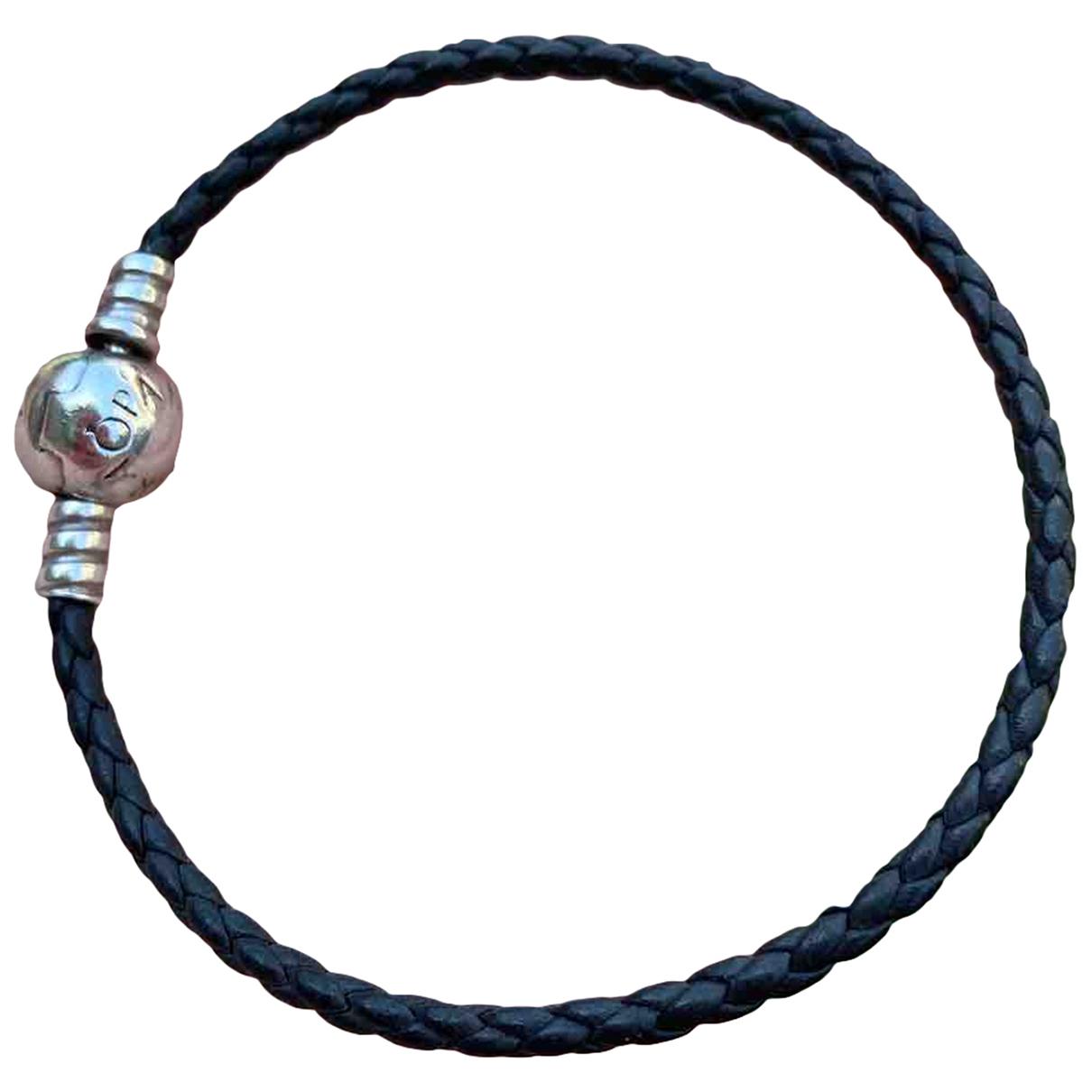 Pandora - Bracelet   pour femme en cuir - noir
