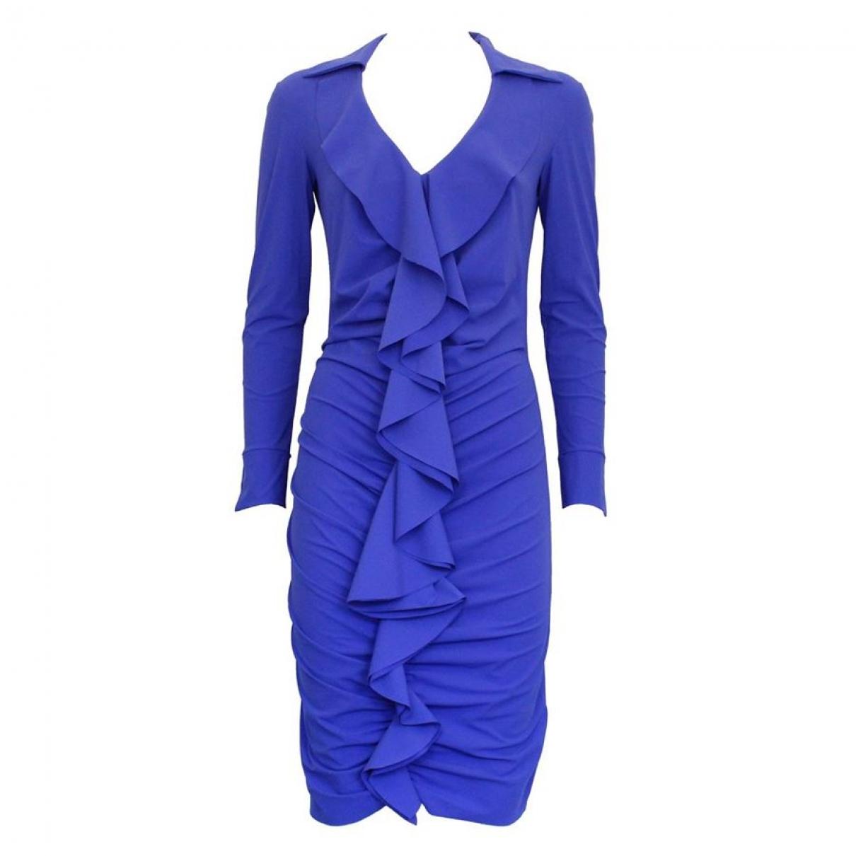 Chiara Boni \N Kleid in  Blau Seide