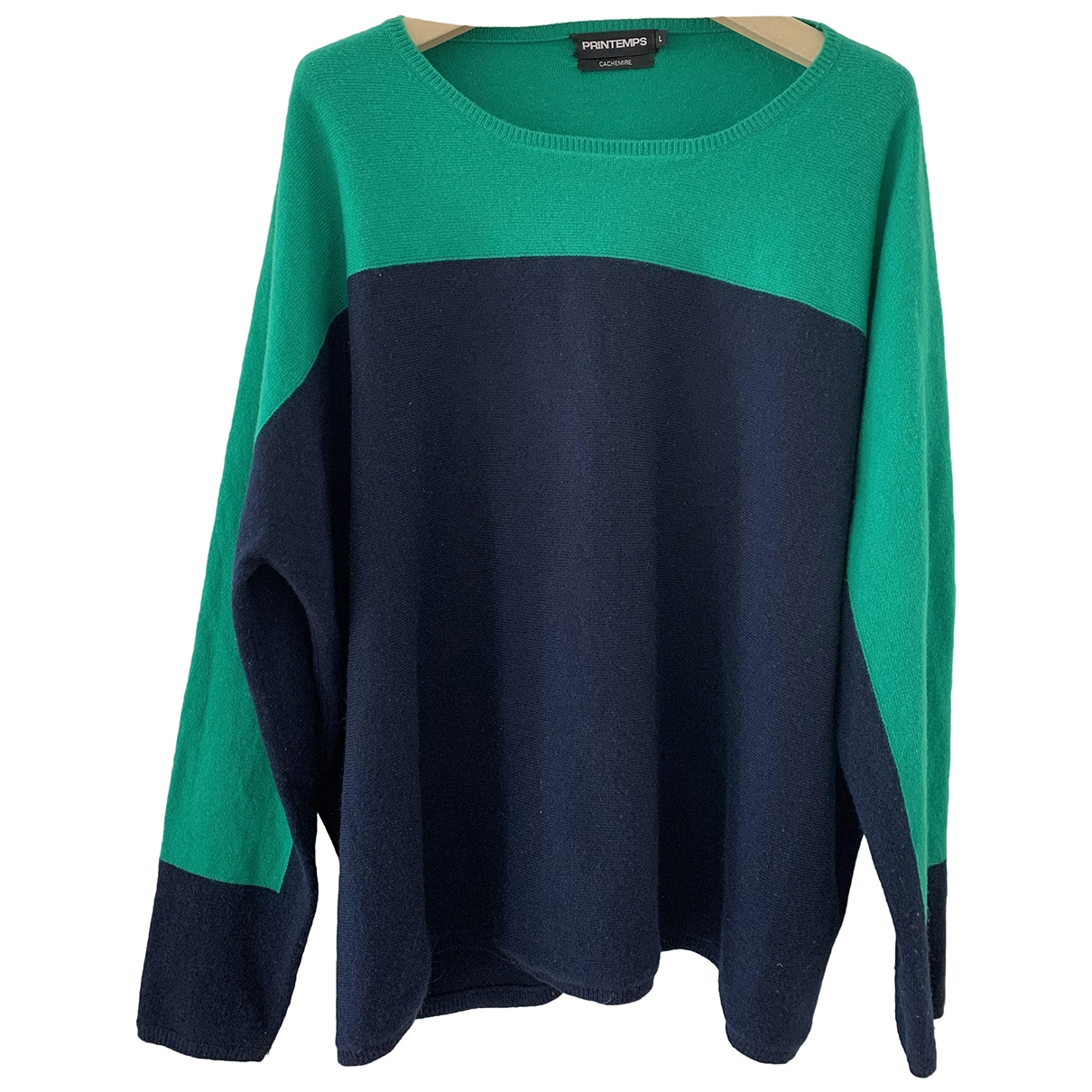 Non Signé / Unsigned Oversize Navy Cashmere Knitwear for Women L International
