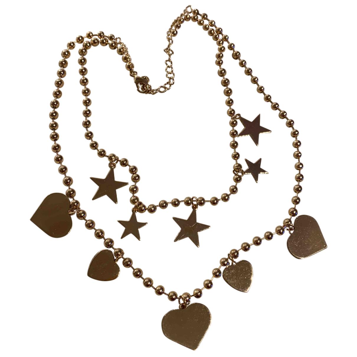 - Collier Motifs Etoiles pour femme en acier - dore