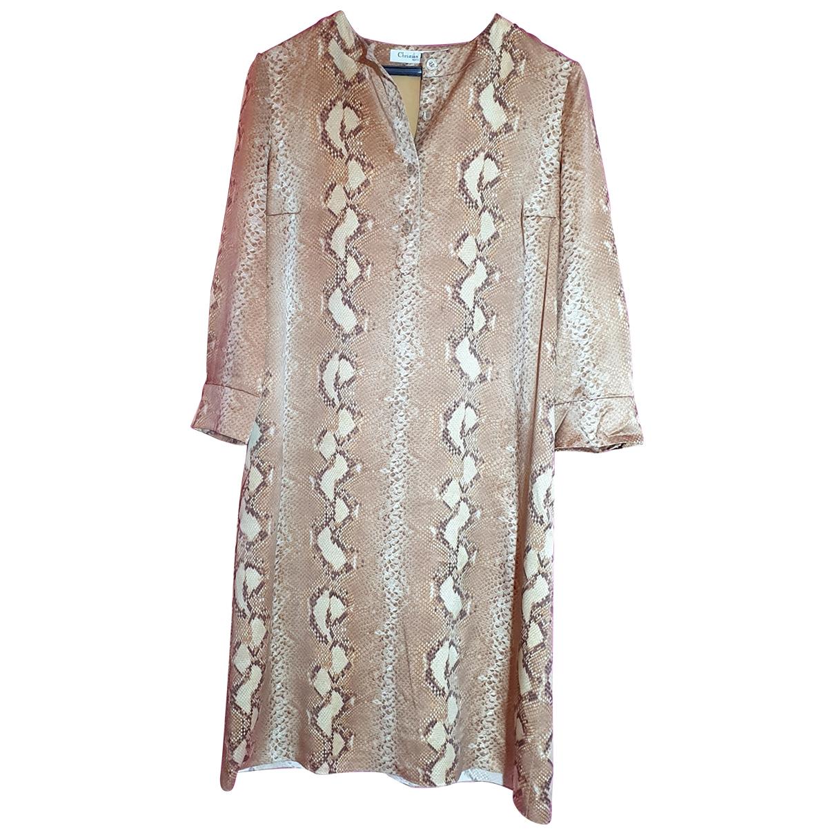 Dior - Robe   pour femme en soie - camel