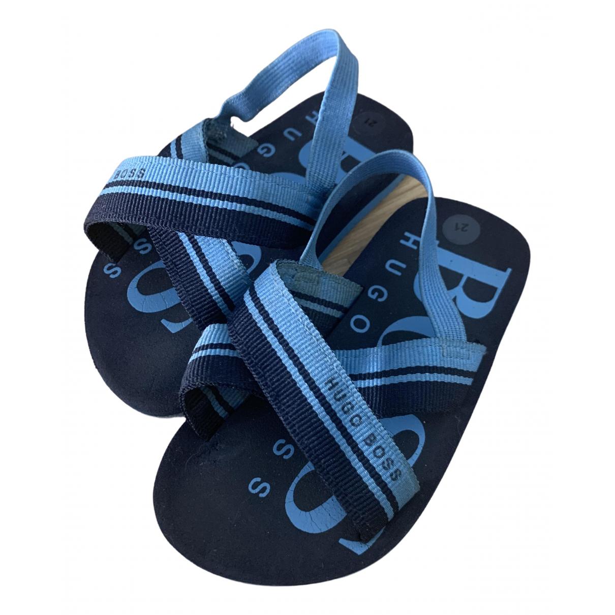 Boss \N Sandalen in  Blau Polyester