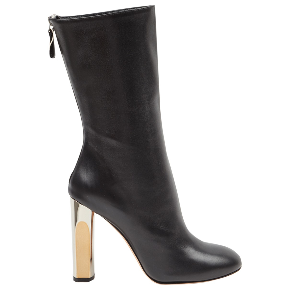Alexander Mcqueen \N Black Leather Boots for Women 38 EU