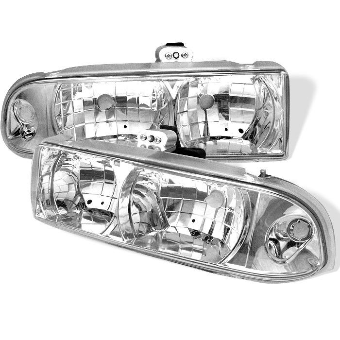 Spyder Auto HD-YD-CS1098-C Chrome Crystal Headlights Chevrolet Blazer 98-05