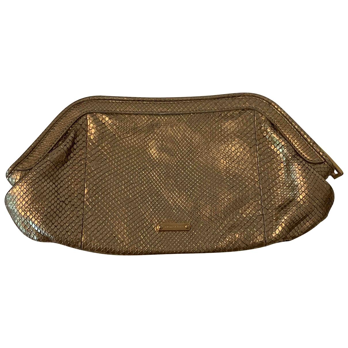 Burberry \N Metallic Leather Clutch bag for Women \N
