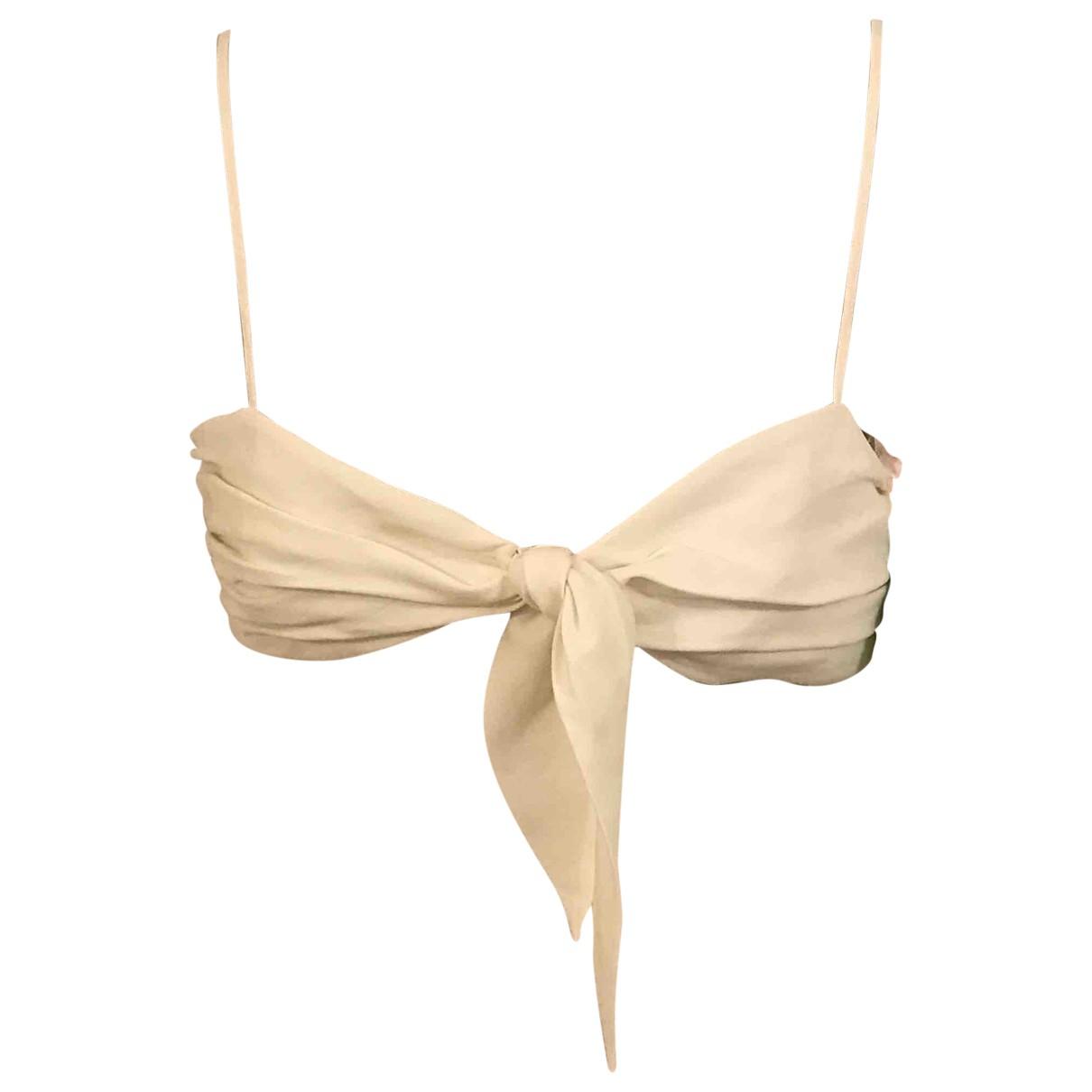 Off-white \N Ecru Linen  top for Women 44 IT