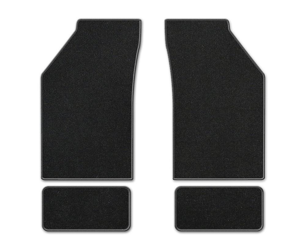 Coverking DFMBM1LN9380B1 Premium Plush Designer Floor Mats Style B Black Front Center Lincoln LS 2000-2006