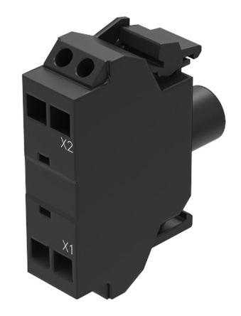 EAO Series 45 Light Block - White, 24 V ac/dc