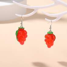 Ohrringe mit Obst Dekor