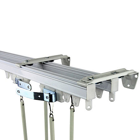 Heavy-Duty Wall/Ceiling Double Track Kit, One Size , White