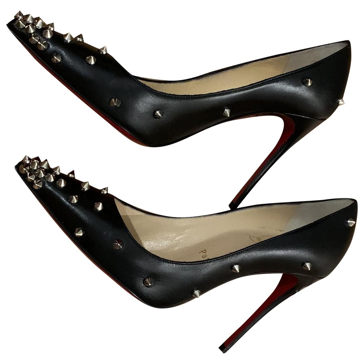 Christian Louboutin \N Black Leather Heels for Women 35.5 EU