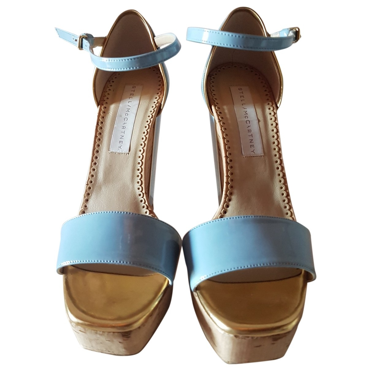 Stella Mccartney \N Sandalen in  Blau Lackleder