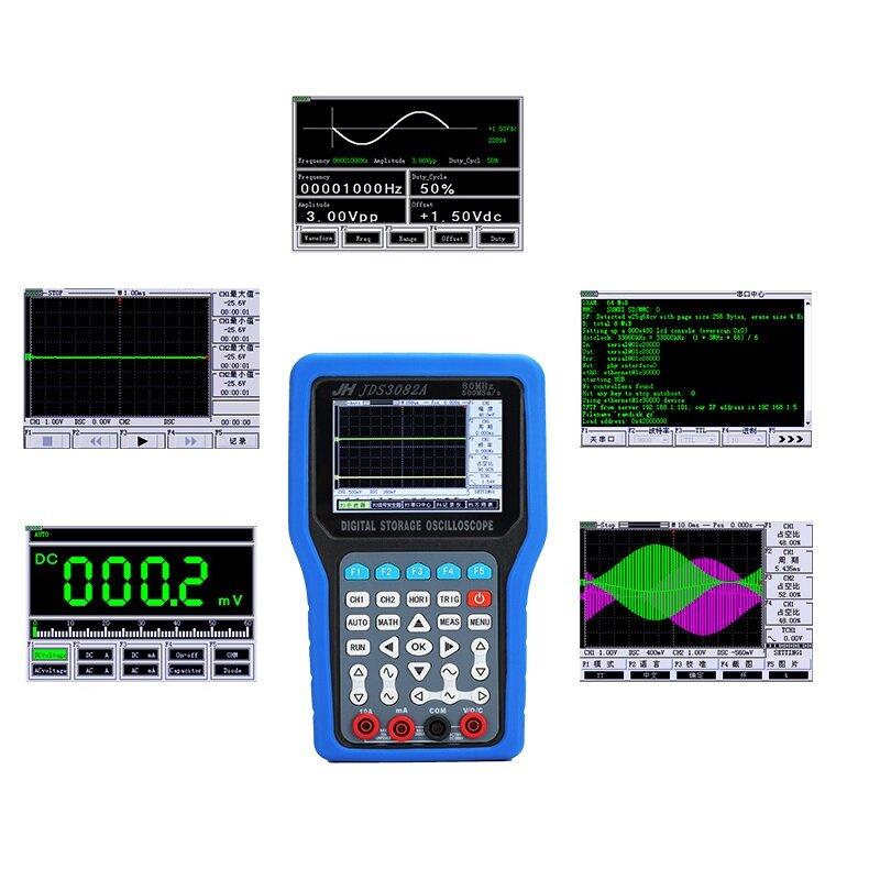 JinHan JDS3051A/JDS3072E/JDS3082A Hand-held Digital Oscilloscope 2 Channel Max 500MSa/s Sampling Rate 50-80MHz Bandwidth