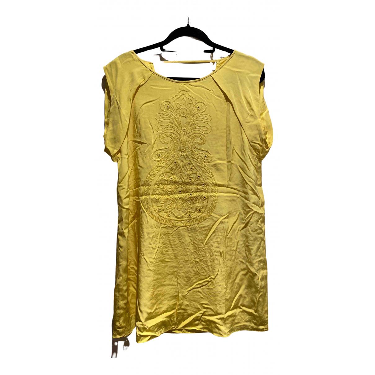 Tibi - Robe   pour femme en soie - jaune