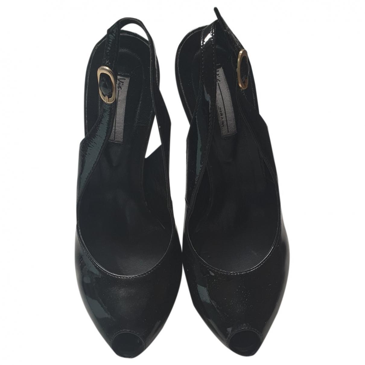 Vic Matie - Escarpins   pour femme en cuir verni - noir