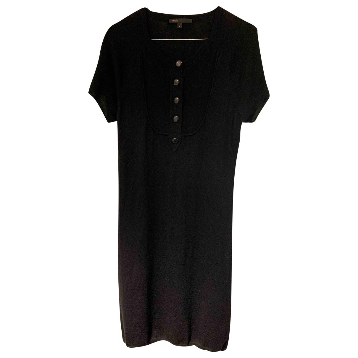 Maje \N Black Wool dress for Women M International