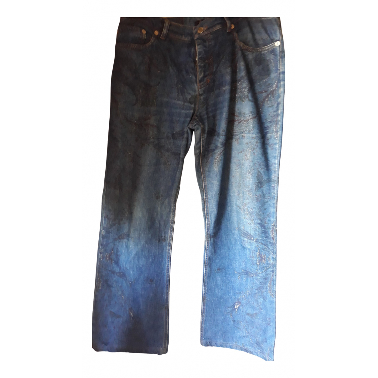 Roberto Cavalli \N Blue Denim - Jeans Trousers for Women 44 IT