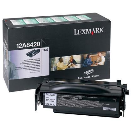 Lexmark 12A8420 cartouche de toner du programme retour originale noire