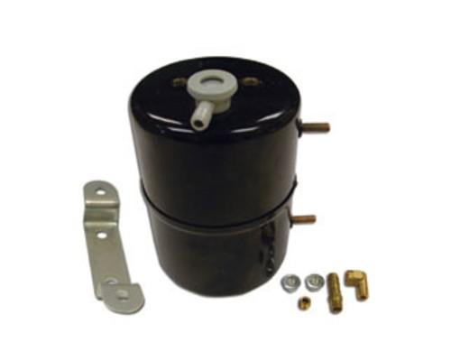 Racing Power Company R9970 Black Steel Vacuum System Reservoir Tank