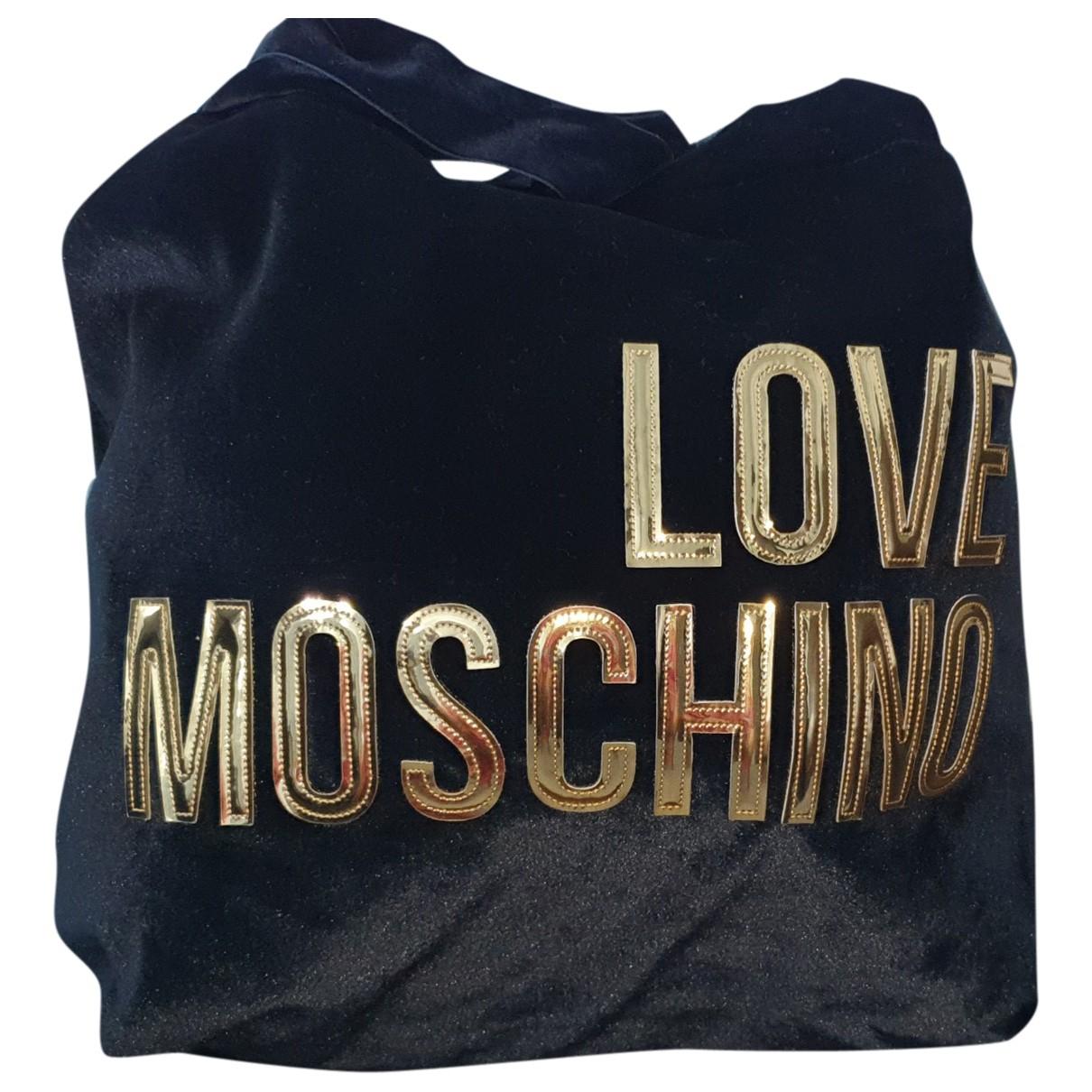 Moschino Love \N Handtasche in  Schwarz Samt