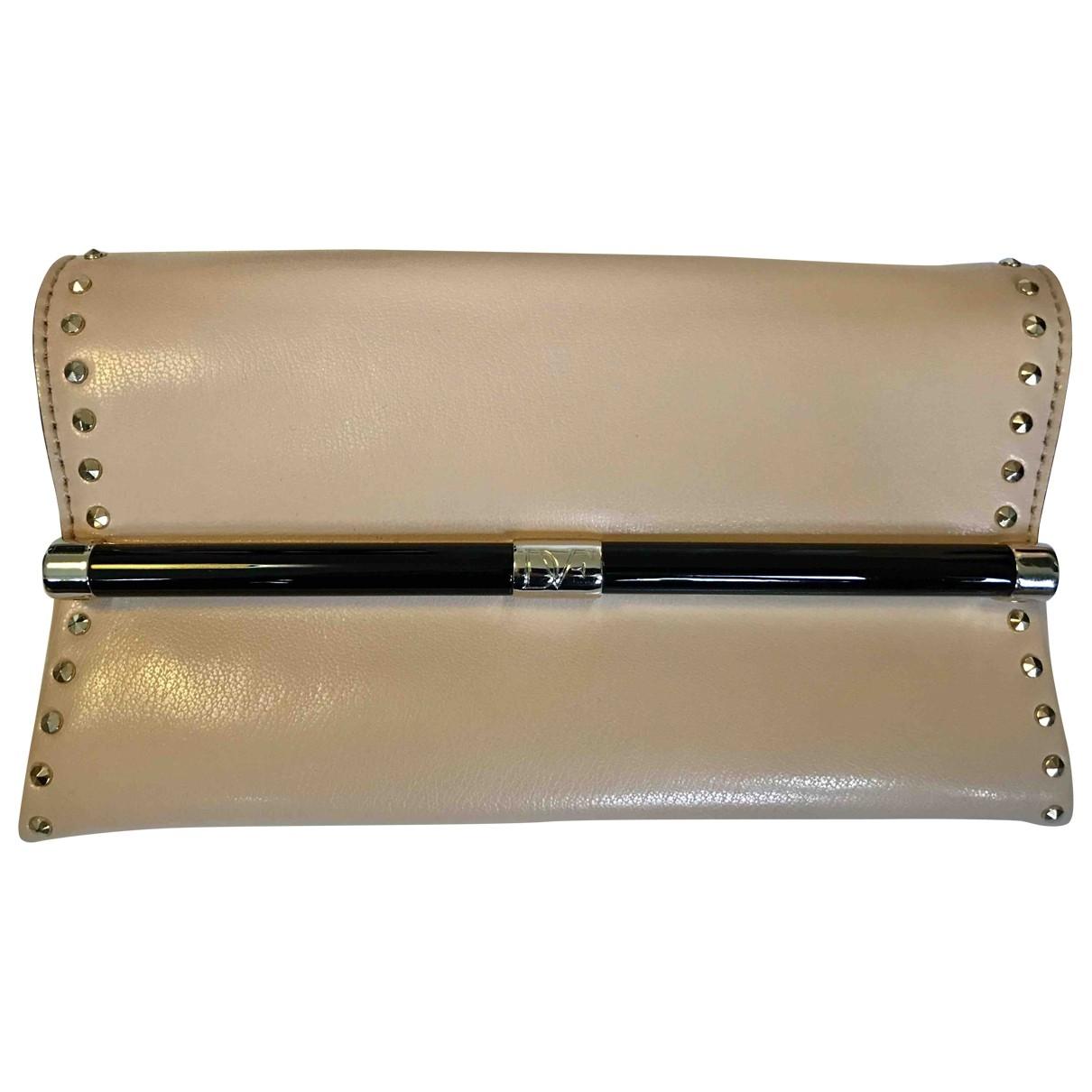 Diane Von Furstenberg \N Pink Leather Clutch bag for Women \N