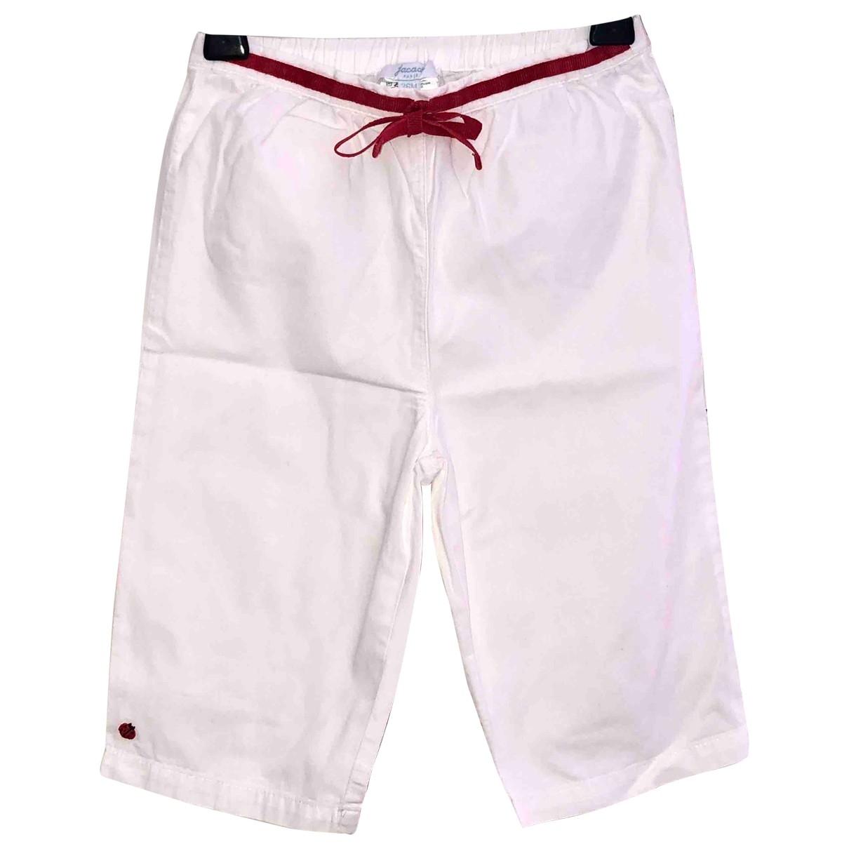 Jacadi - Pantalon   pour enfant en coton - blanc