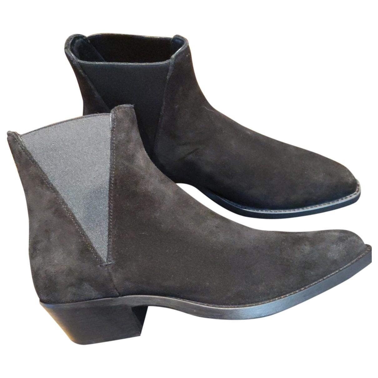 Saint Laurent Dakota Black Suede Boots for Men 40.5 EU