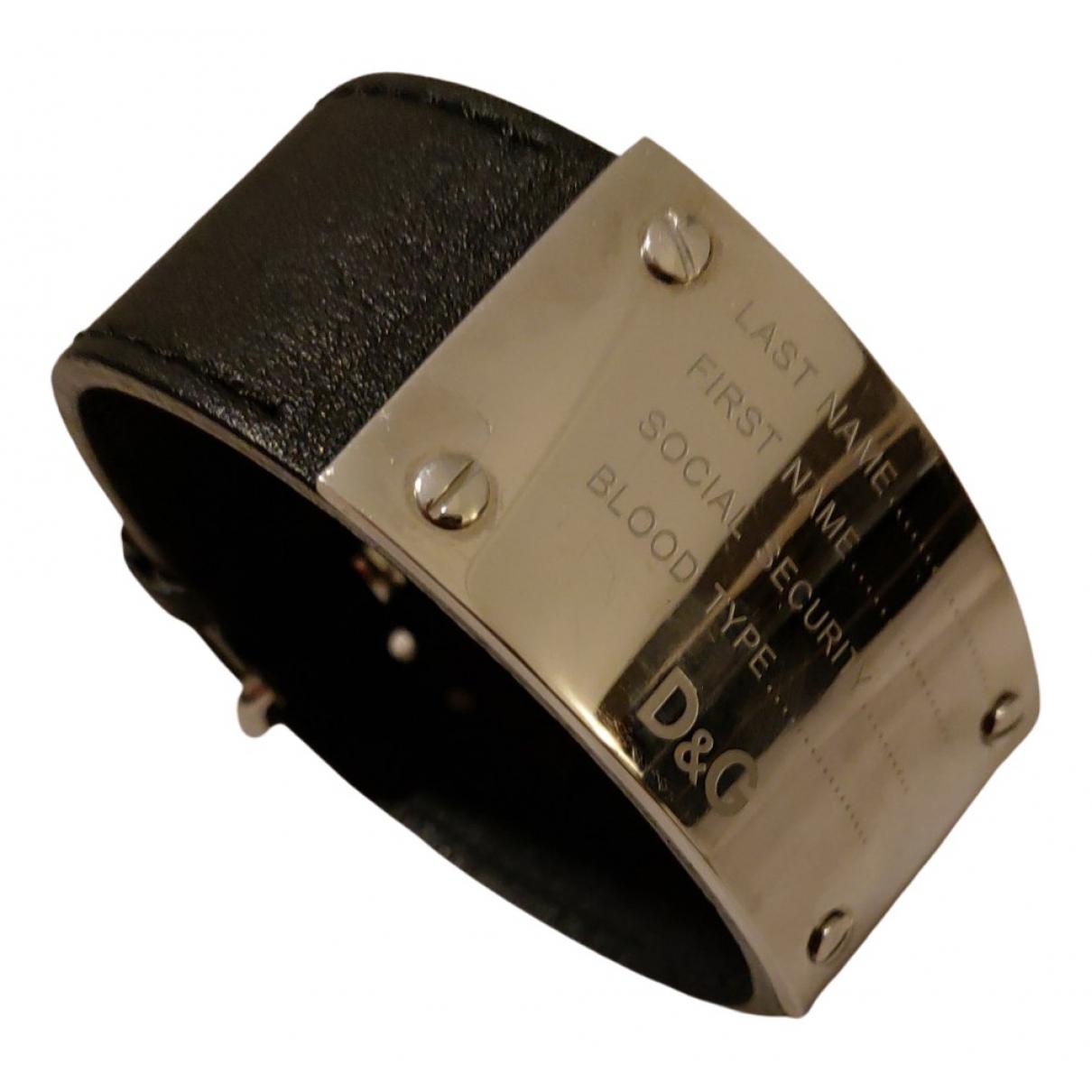 D&g - Bracelet   pour femme en cuir - noir
