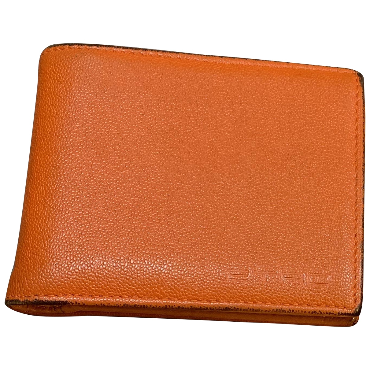 Etro \N Orange Leather Small bag, wallet & cases for Men \N