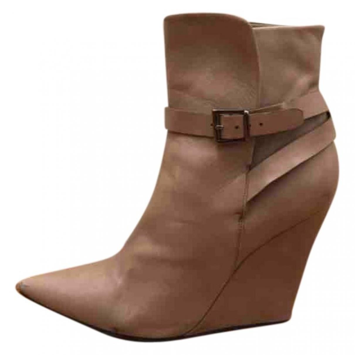 Barbara Bui - Boots   pour femme en cuir - gris