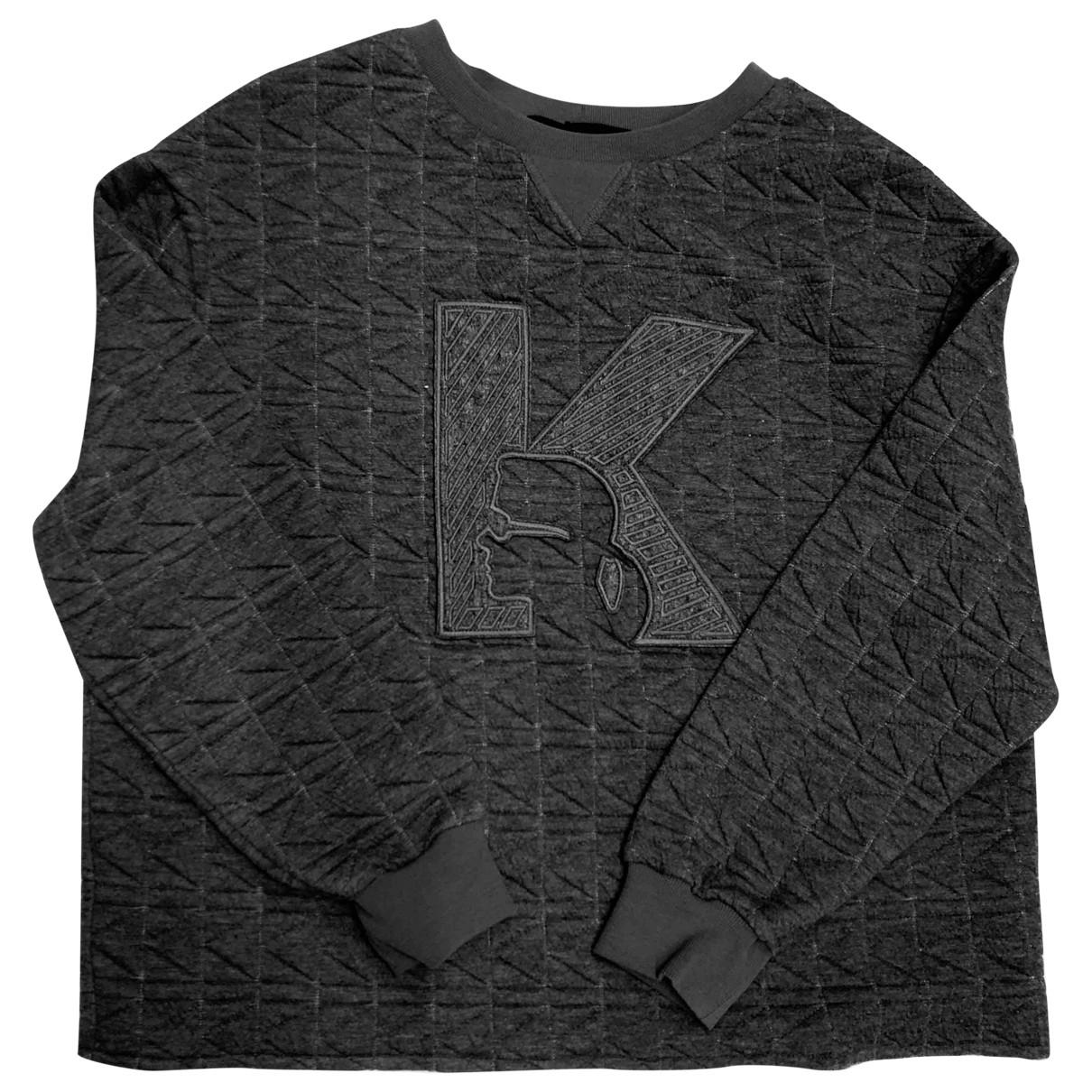 Karl \N Pullover in  Anthrazit Polyester